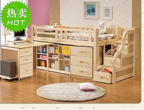 新品特价 衣柜床 儿童双层实木 高低床 子母上下床 多功能床