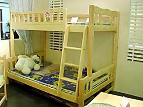 儿童双层床/松木子母床/上下床/小孩床/高低床/松木家具