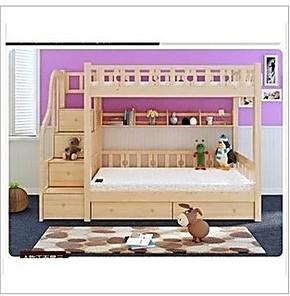 实木松木儿童床双层床上下下铺高低床子母床母子床多功能梯柜木质