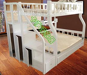 田园高档松木儿童床/实木床儿童/上下床双层床/高低床/实木子母床