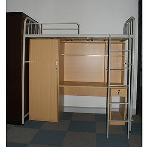 【上海姬祥】学生公寓床 宿舍高低铁床 带衣柜写字台高低床 特价