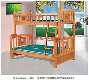 时尚本地家具实体店 双层实木床 儿童床 高低床 实木子母床TY010