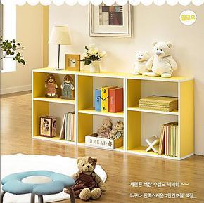 韩式家具 书柜 书架 书橱 壁柜 自由组合,储物柜 儿童小柜子简约