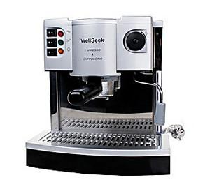 包邮 SK201意式咖啡机 特浓咖啡机壶 半自动咖啡机 不锈钢外壳