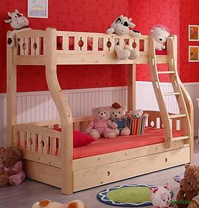 高低床上下铺实木松木家具子母床双层床儿童床新品宜家定制现货