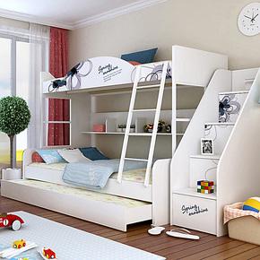 布拉德 双层床 花韵 1.5上下床 儿童床子母床高低床双层床