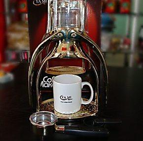 博利咖啡~YAMI手动意式咖啡机*海鸥式简便手压式咖啡机*金色