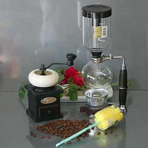 陶瓷碗磨豆机手动磨咖啡粉MD14 酒精灯咖啡机日式虹吸壶组合套装