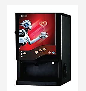 新上市三冷三热咖啡机 智能台式3料盒咖啡机 多功能咖啡饮水机