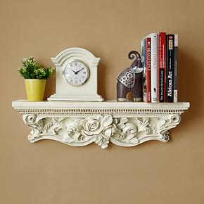 创意欧式一字搁板/隔板置物架层架花架墙上装饰书架壁挂墙架支架