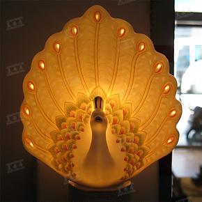 特价6省包邮 陶瓷小夜灯 床头灯具 孔雀香熏灯饰 节能环保礼品