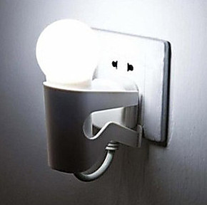 光控灯 DOULEX小夜灯 LED小夜灯 壁灯 环保节能灯 小人灯/白 0.2