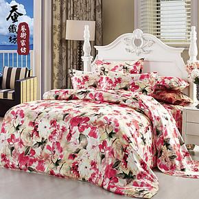 蚕织坊正品真丝四件套床品100%桑蚕丝特价真丝套件床上用品特价BK