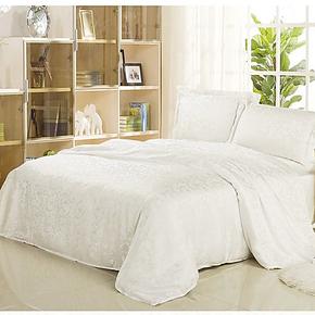 枕水人家 重磅真丝四件套 100桑蚕丝 床上用品 双面丝绸床品套件