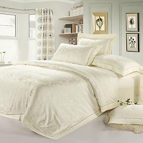 优雅莱家纺 床上用品 四件套 甲壳素天丝提花 床上件套床品套件正