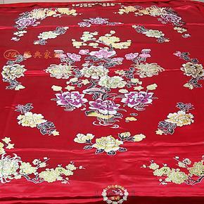 睡典家纺床品纯棉单件活里活面婚庆绸缎被套织锦缎丝绸被罩 包邮