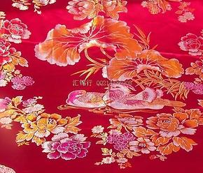 (品牌授权)2米特宽杭州丝绸织锦被面/被套婚庆床品/和和美美