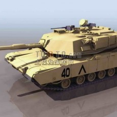 坦克兵器素材143d模型下载