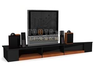 家电004-电视3d模型下载