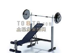 杠铃支架7-体育用品素材3d模型下载