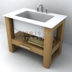 洁具1-洗手台2套3d模型下载