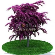 景观盆栽花3d模型下载