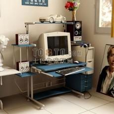 电脑桌3d模型下载