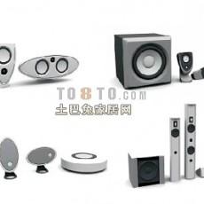 白色音箱3d模型下载