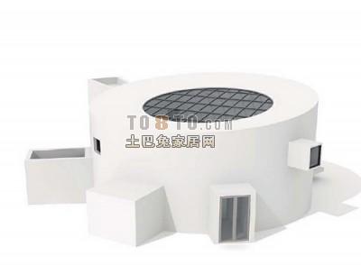 现代简洁造型别墅3D模型5-5套