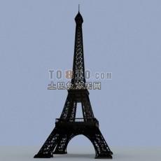 艾菲尔铁塔3d模型下载