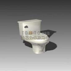 白色现代风格坐便器3d模型下载