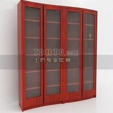 古典中式书柜3d模型下载