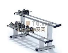 哑铃支架7-体育用品素材3d模型下载