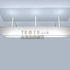 日光灯具3d模型下载