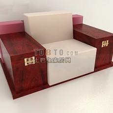 超古典中式单人实木沙发3d模型下载