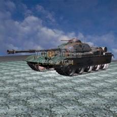 坦克兵器素材203d模型下载