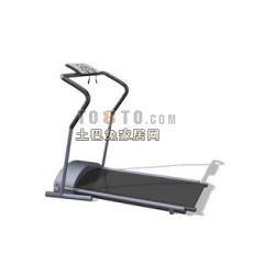 跑步机、健身器等室内建设器材203d模型下载