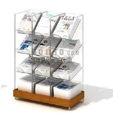 杂志报纸货架3d模型下载