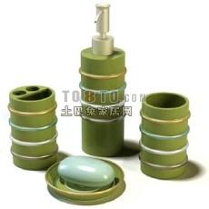化妆品,瓶子,香皂盒等洗浴用品2-5套3d模型下载