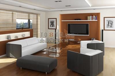 现代客厅背景墙