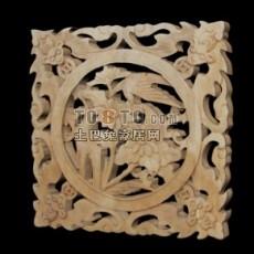 中式木雕花片11套3d模型下载