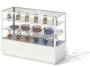 超市珠宝展示货架3d模型下载