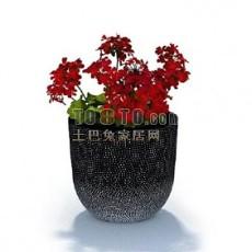 盆景花3d模型下载