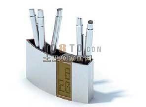 办公用品-笔筒15套3d模型下载