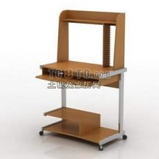 宿舍书桌3d模型下载