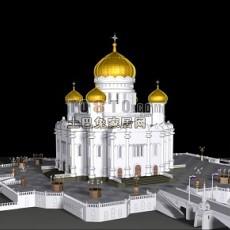 经典欧式风格建筑3d模型下载