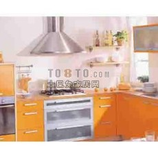 现代厨房773d模型下载