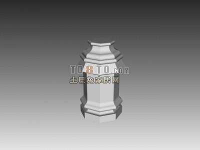 白色欧式古典欧式构件