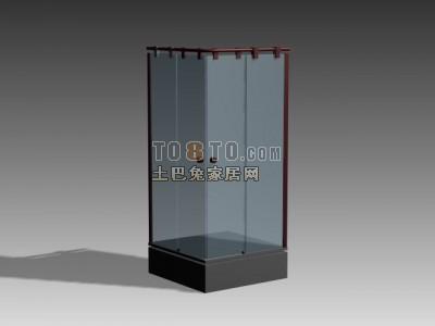 3D淋浴房模型-001
