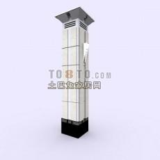 现代风格柱子3d模型下载